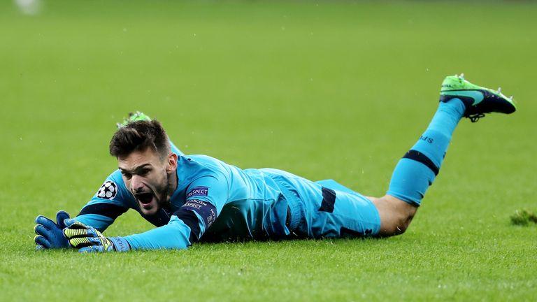 Hugo Lloris produced a stunning save against Bayer Leverkusen