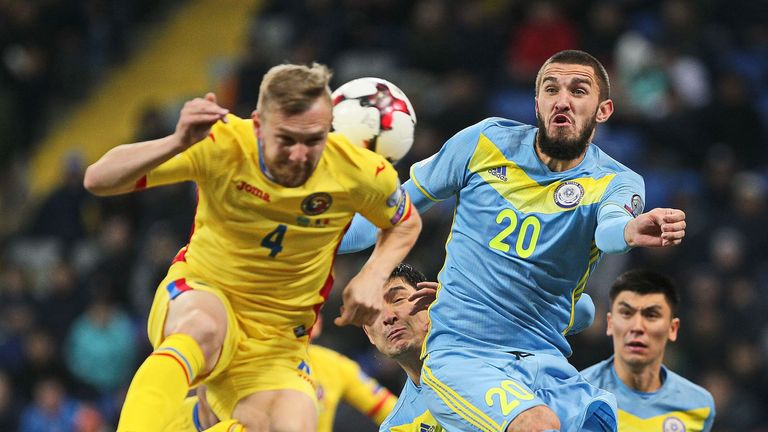 Kazakhstan and Romania drew 0-0 on Tuesday evening