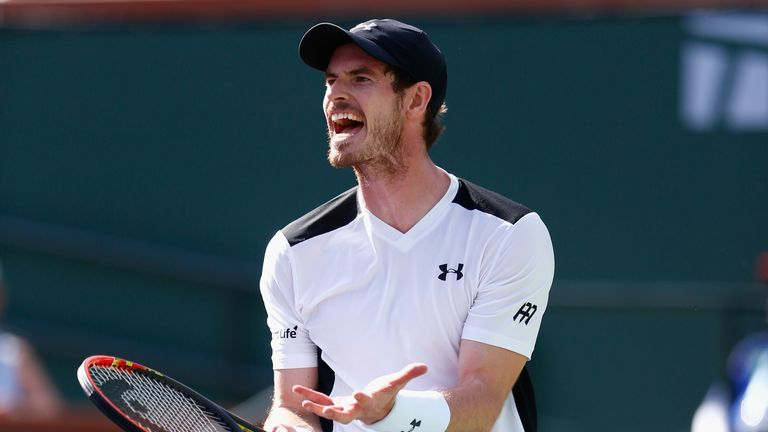 Andy Murray has suffered a frustrating time at Indian Wells