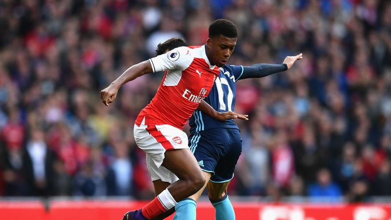 Alex Iwobi has impressed Ferguson since breaking into the Arsenal side