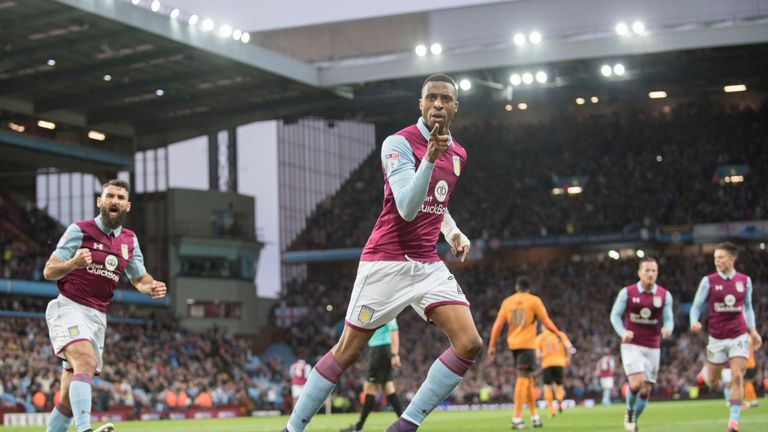 Jonathan Kodjia has won the PFA Fans' Player of the Month for November in the Sky Bet Championship