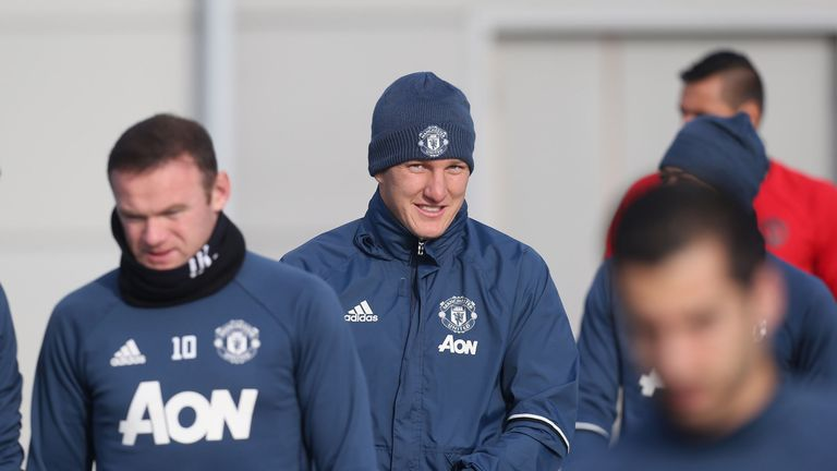 Bastian Schweinsteiger recently returned to first-team training with Manchester United