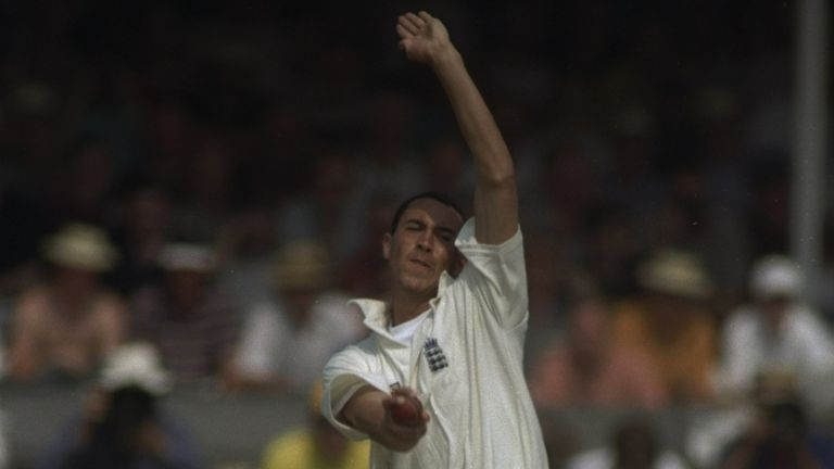 Ben Hollioake bowls in the 1997 Ashes Test at Trent Bridge