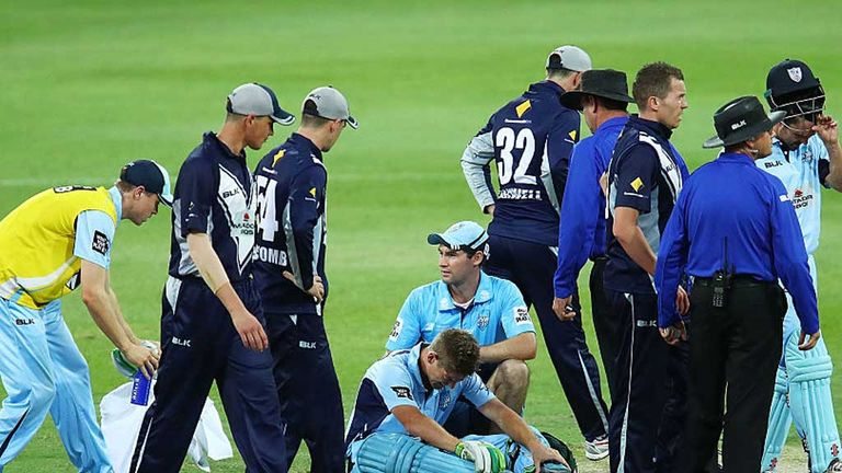 Daniel Hughes was the first batsmen subbed out of a game in Australia after being concussed