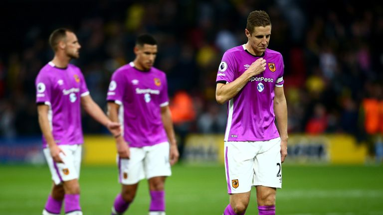 Hull's 6th straight loss after captain's own goal at Watford
