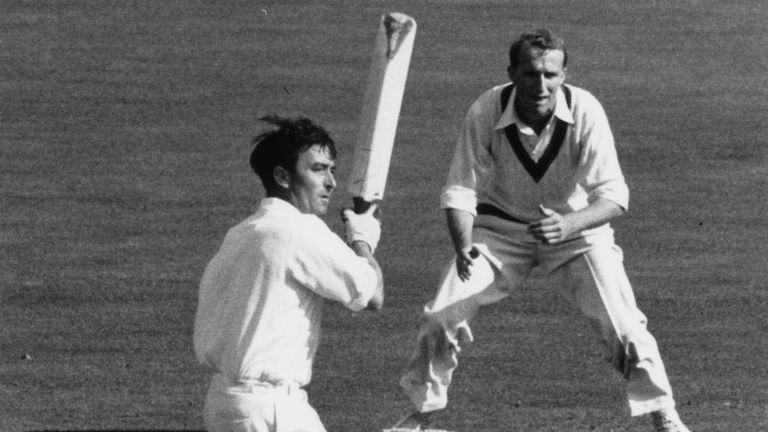 Denis Compton goes on the offensive against Australia