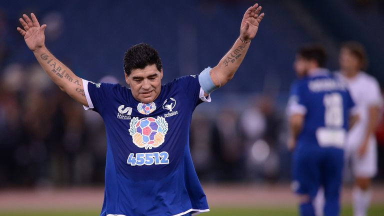 Diego Maradona, who helped Napoli to Serie A titles in 1987 and 1990, will be a guest at the Bernabeu