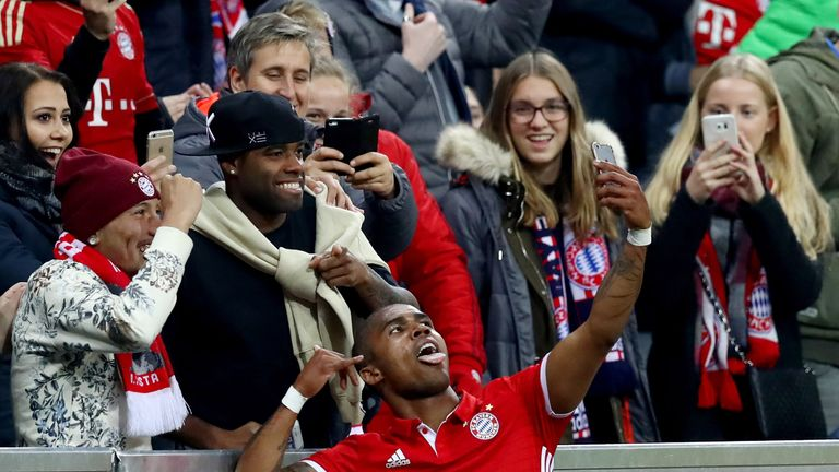 Douglas Costa could be set to depart Bayern Munich in the summer