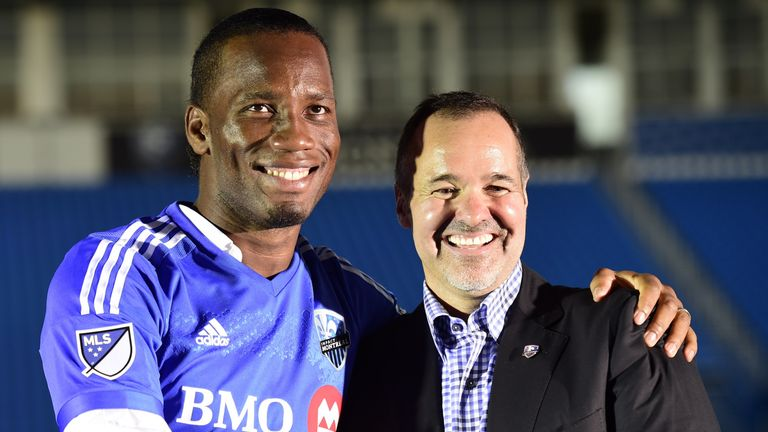 Didier Drogba has settled his differences with Montreal president Joey Saputo