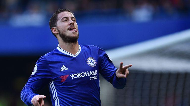 Eden Hazard scored Chelsea's second at Stamford Bridge