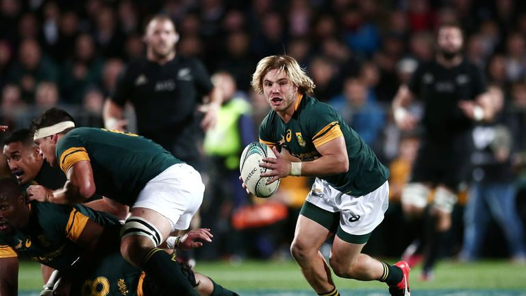 Faf de Klerk in action for his country against New Zealand