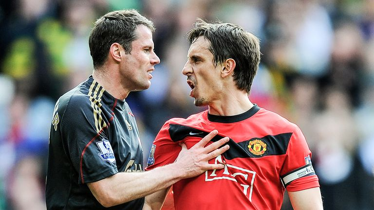 Jamie Carragher finished seven places above Gary Neville in 14th