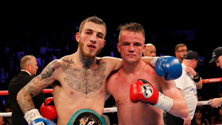 Sam Eggington and Frankie Gavin show respect at the end of a classic encounter