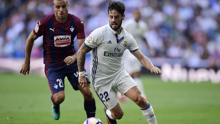 Eibar's Pedro Leon (left) knows the dangers of facing his former side Real