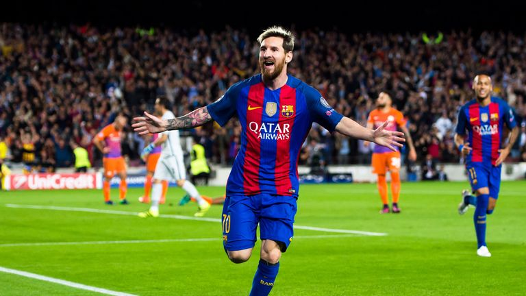 Lionel Messi's Barcelona will face French champions PSG