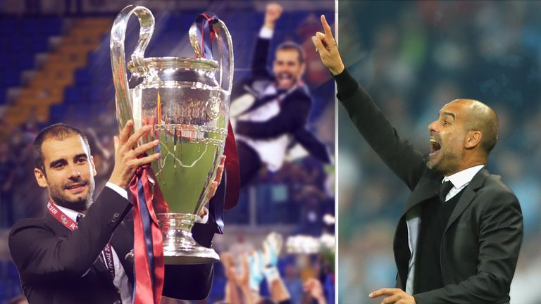 Pep Guardiola won the Champions League in his first season as Barcelona boss