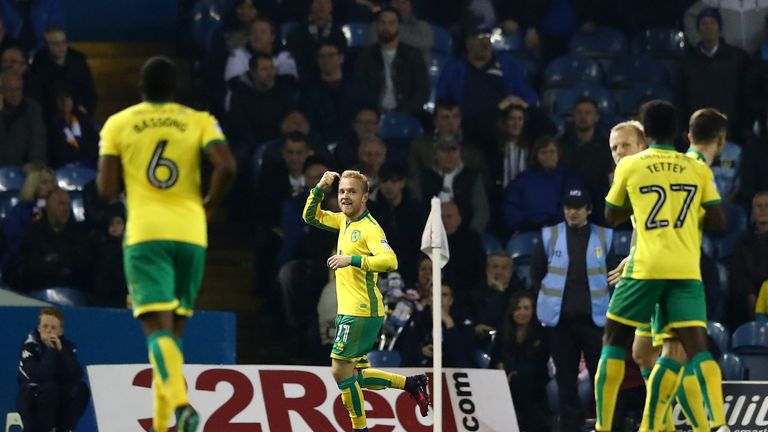 Alex Pritchard scored his first goal for Norwich since joining from Tottenham