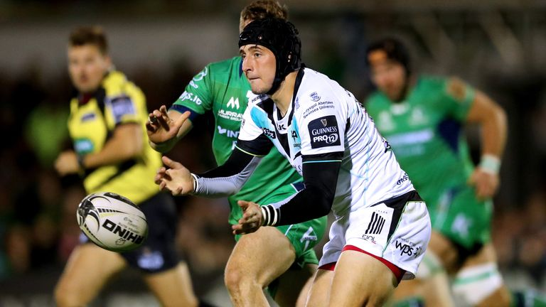 Sam Davies in action for the Ospreys