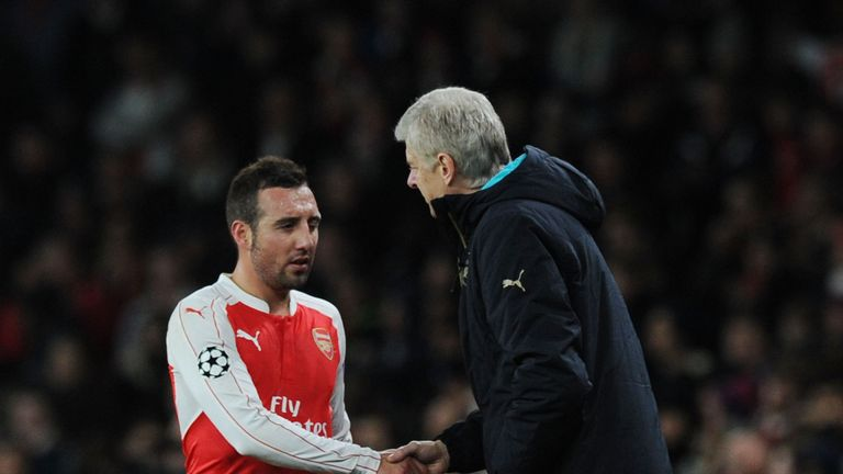 Santi Cazorla sees his Arsenal contract expire next summer