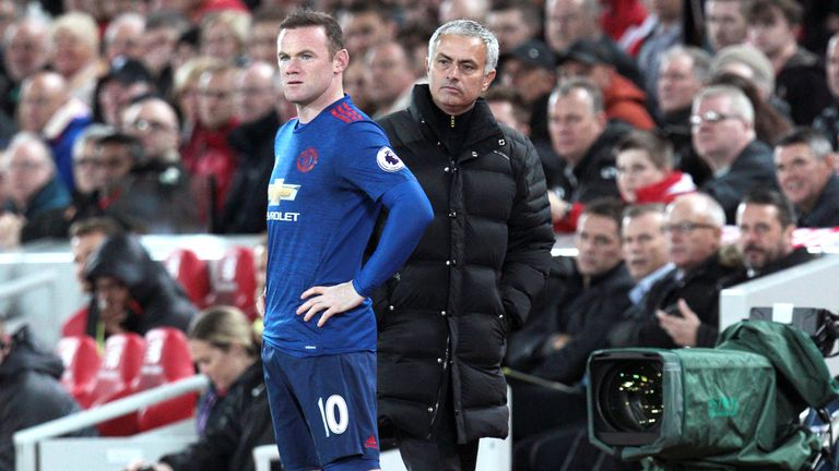 Mourinho refused to confirm whether Wayne Rooney would once again start from the bench