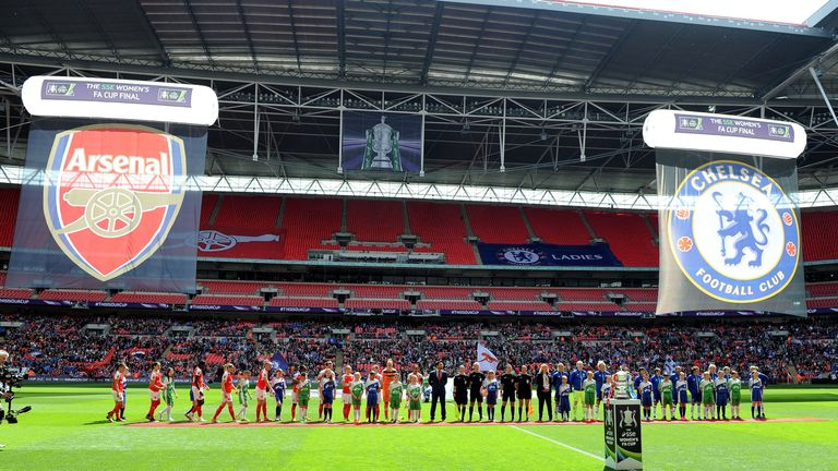 Arsenal Ladies beat Chelsea Ladies at this year's SSE Women's FA Cup final