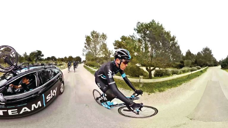 You can get behind the scenes with Team Sky with the VR app