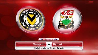 Newport 2-2 Barnet