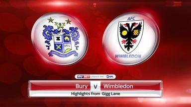 Bury 1-2 AFC Wimbledon