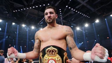 Nathan Cleverly celebrates regaining a world title