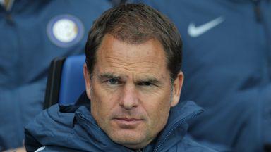 Frank de Boer's Inter were beaten again on Sunday