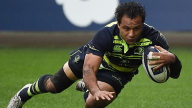 Leinster's New Zealand wing Isa Nacewa scored a vital try in the defeat to Montpellier