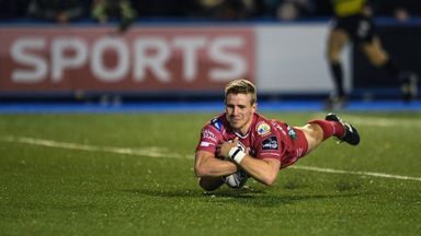 Jonathan Evans bagged two tries for Scarlets in Parma