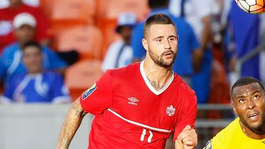 Marcus Haber in action for Canada against Jamaica