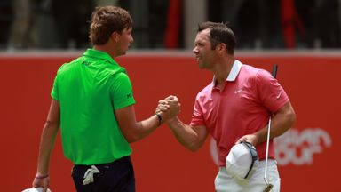 Paul Casey (right) is off to a good start in Malaysia