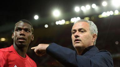 Jose Mourinho (right) thinks Paul Pogba will lose his status as the world