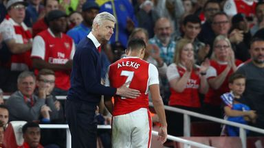 Arsene Wenger says he will continue to make the decision on whether to substitute Alexis Sanchez