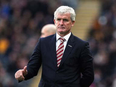 Mark Hughes' Stoke chase another victory