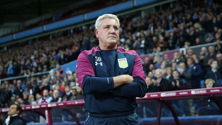 Aston Villa manager Steve Bruce during the Sky Bet Championship match at Villa Park