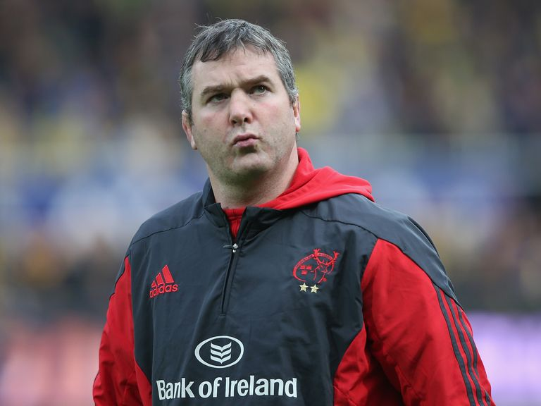 Munster head coach Anthony Foley dies overnight at hotel