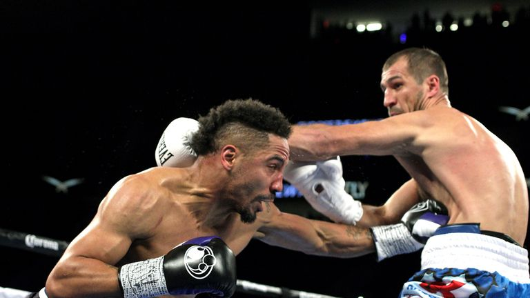 Andre Ward remained unbeaten with a points win in the first fight with Sergey Kovalev