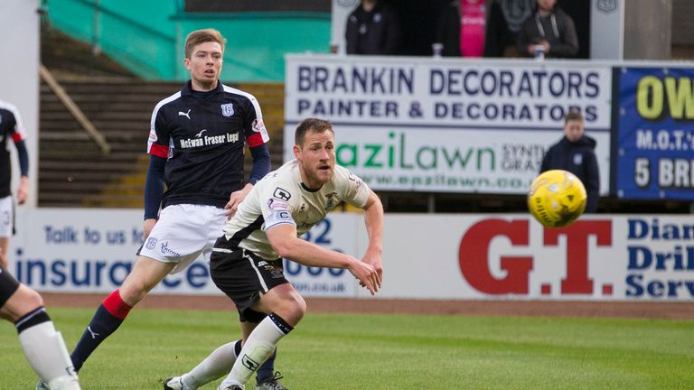 Craig Wighton fires Dundee ahead at Dens Park against Inverness CT earlier this season
