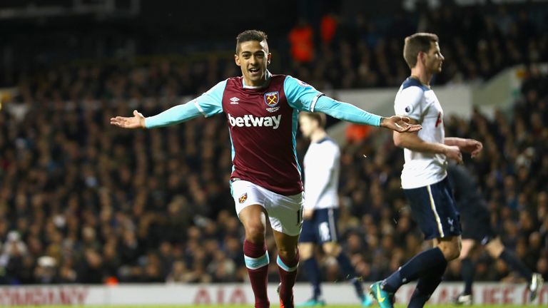 Manuel Lanzini converted from the spot to put West Ham back in front
