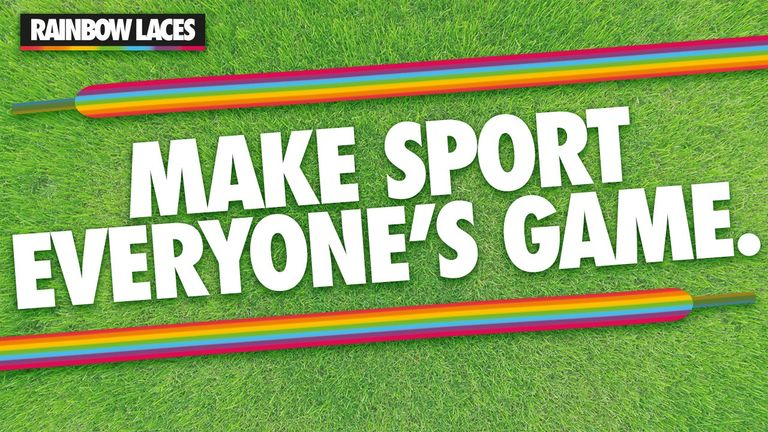 Stonewall's Rainbow Laces campaign is helping to change sport and remove language and behaviour that makes LGBT people feel unwelcome and unsafe