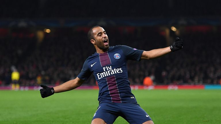 Lucas Moura in action for Paris Saint-Germain