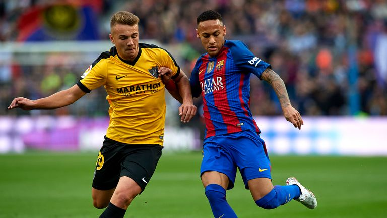 Neymar sees red as Barcelona shocked by Malaga