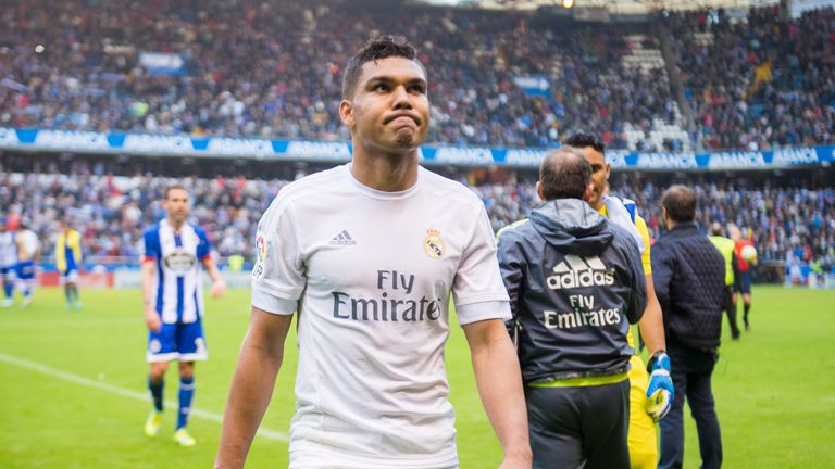 Real's Casemiro back in training after two month lay-off