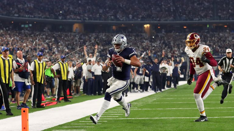 Dak Prescott leads the league in QB rushing touchdowns