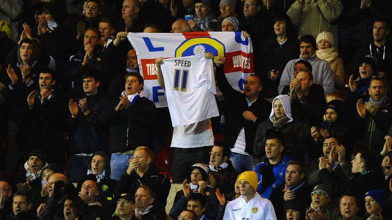 Fans show their appreciation for Gary Speed shortly after his death in 2011