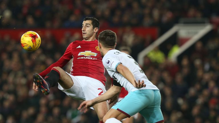 Henrikh Mkhitaryan teed up an early Zlatan Ibrahimovic goal with a clever back-heel