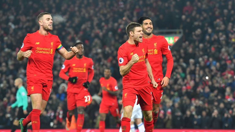 James Milner scored his fifth penalty of the season at the weekend